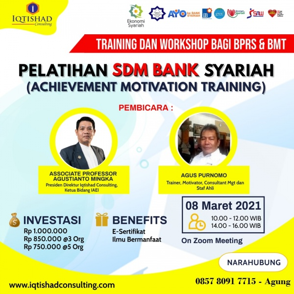 Webinar Pelatihan SDM Bank Syariah (Achievment Motivation Training)