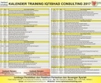 KALENDER TRAINING IQTISHAD CONSULTING 2017